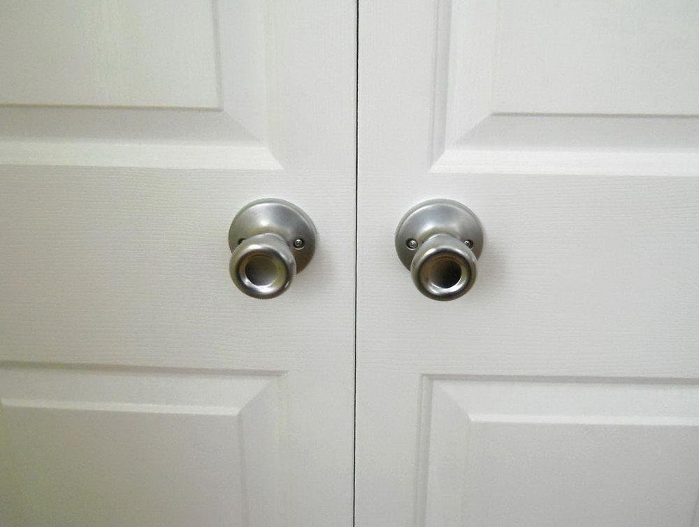 Double Closet Door Hardware