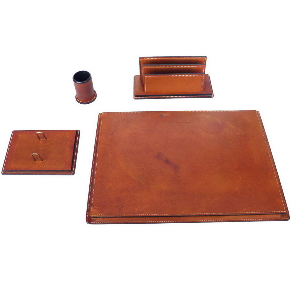 Leather Desk Accessories Set