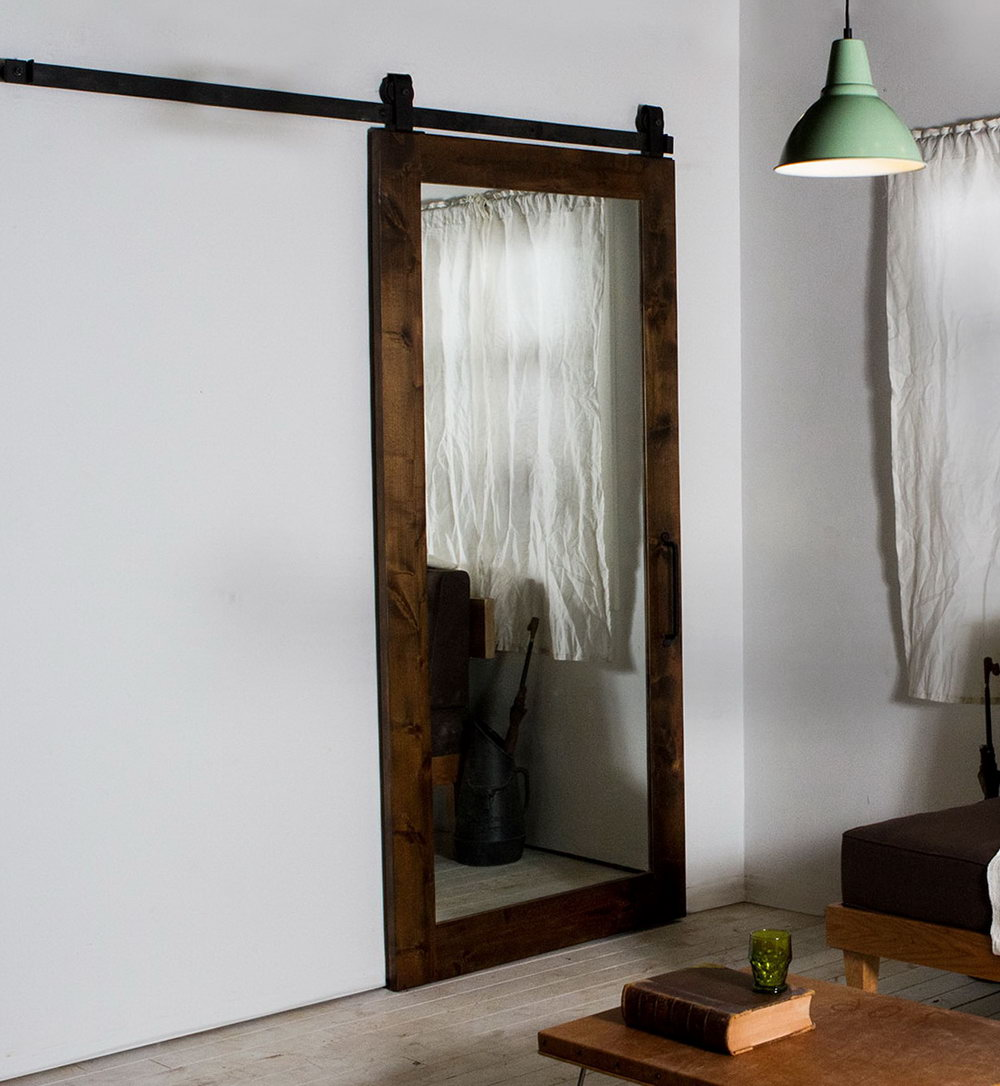 Mirrored Closet Doors With Wood Frames
