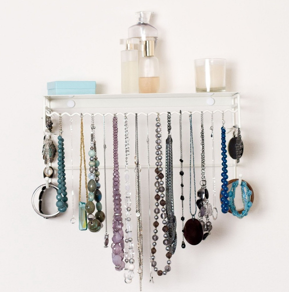Wall Mounted Necklace Organizer