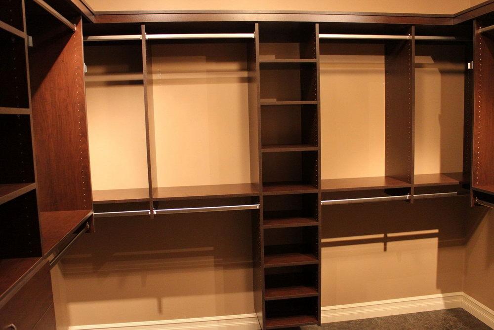 Wood Closet Shelving Designs