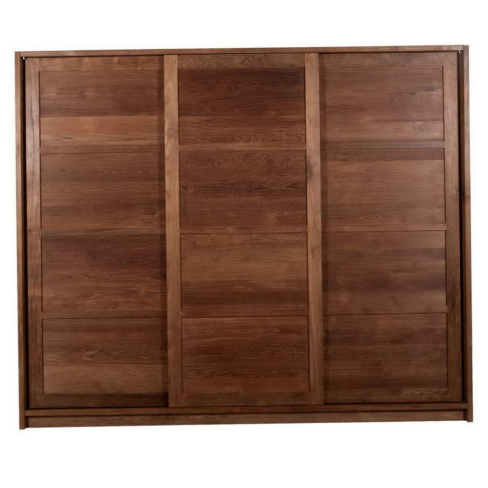 Wood Panel Sliding Closet Doors