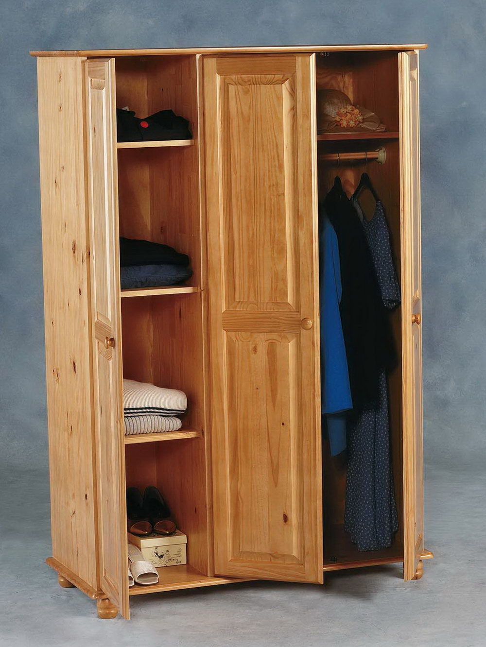 Wooden Portable Wardrobe Closet