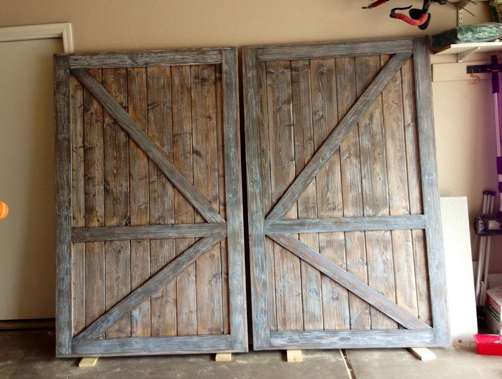 Barn Door Look Closet Doors