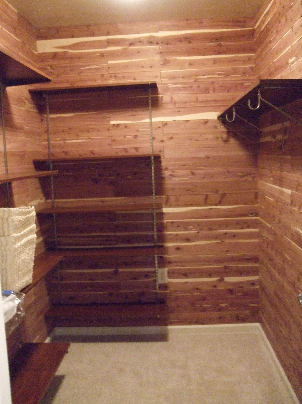 Cedar Closet Liner Planks