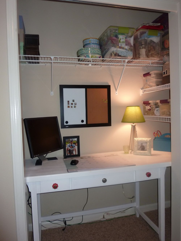 Closet Office Ideas Pinterest
