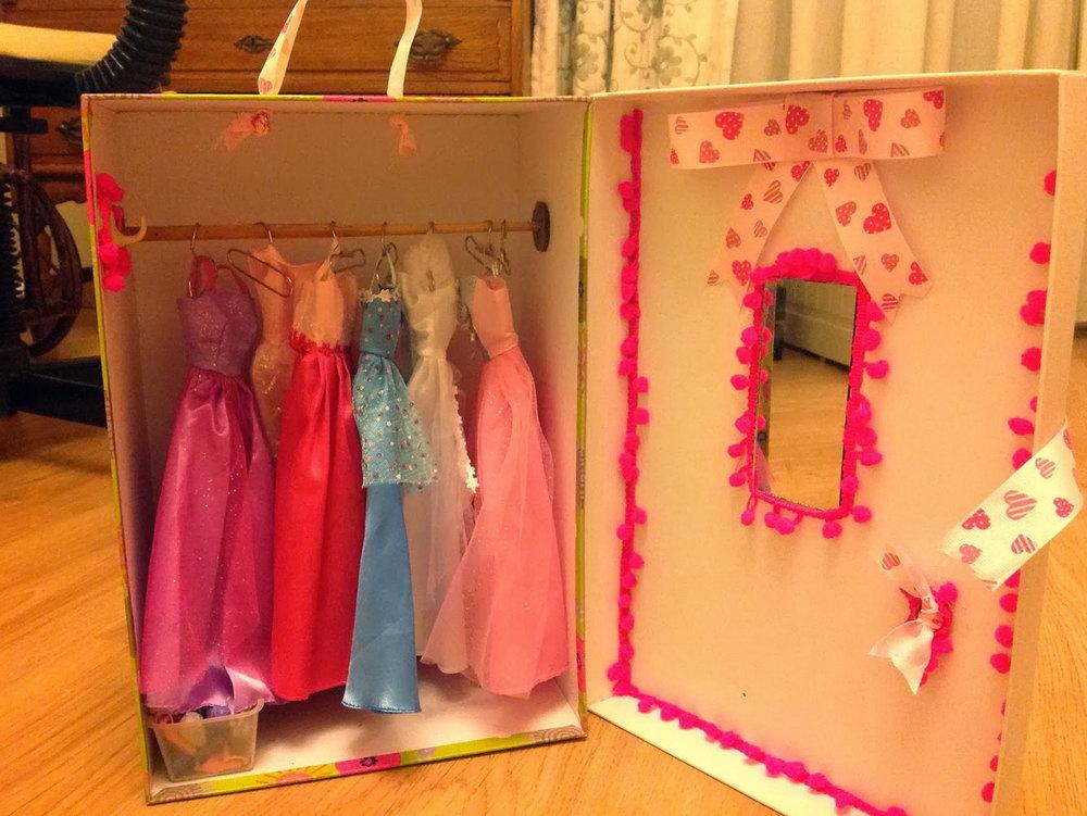 Diy Barbie Clothes Closet