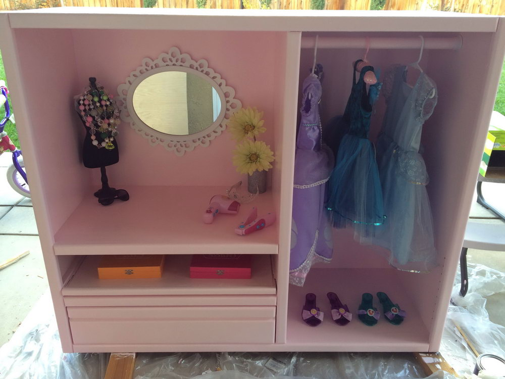 Diy Dress Up Closet From Dresser
