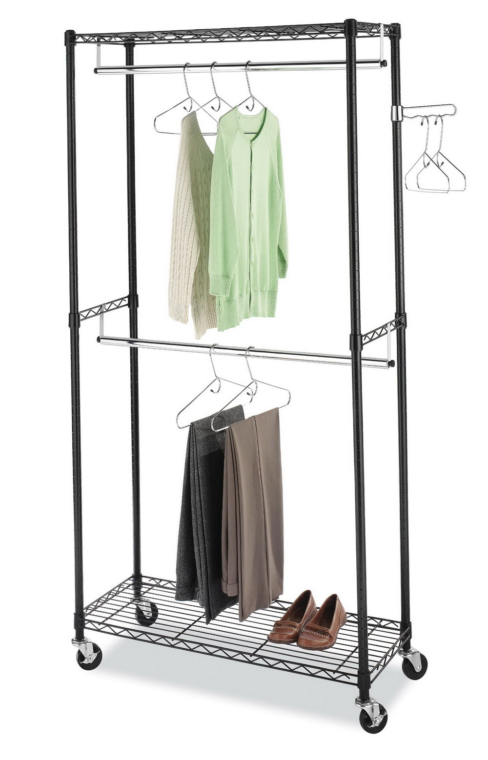 Double Hanging Closet Rod Height