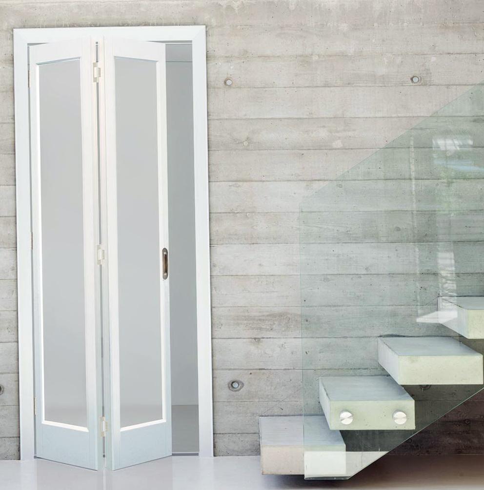 Frosted Glass Bifold Closet Doors