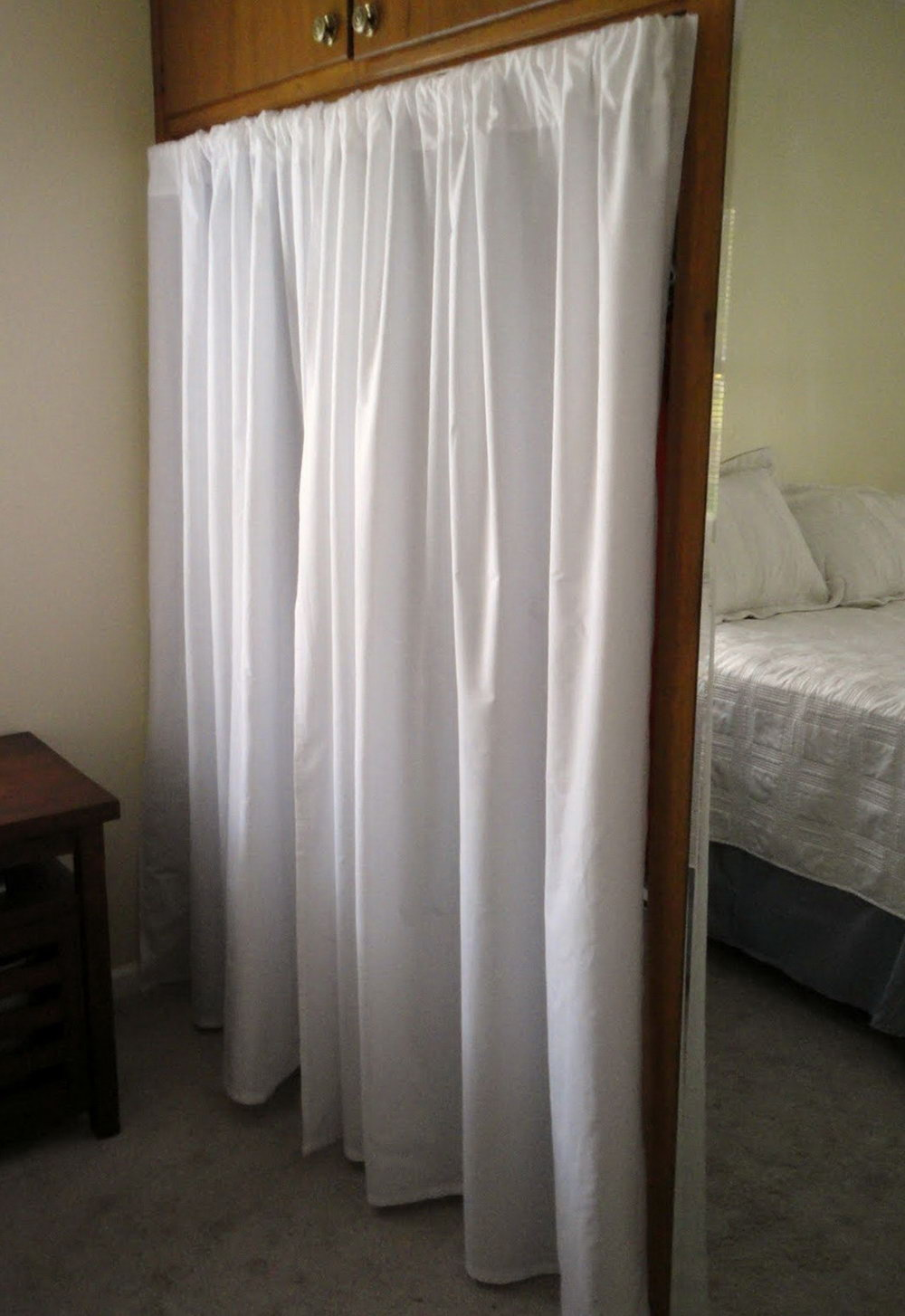 How To Make A Closet With Curtains