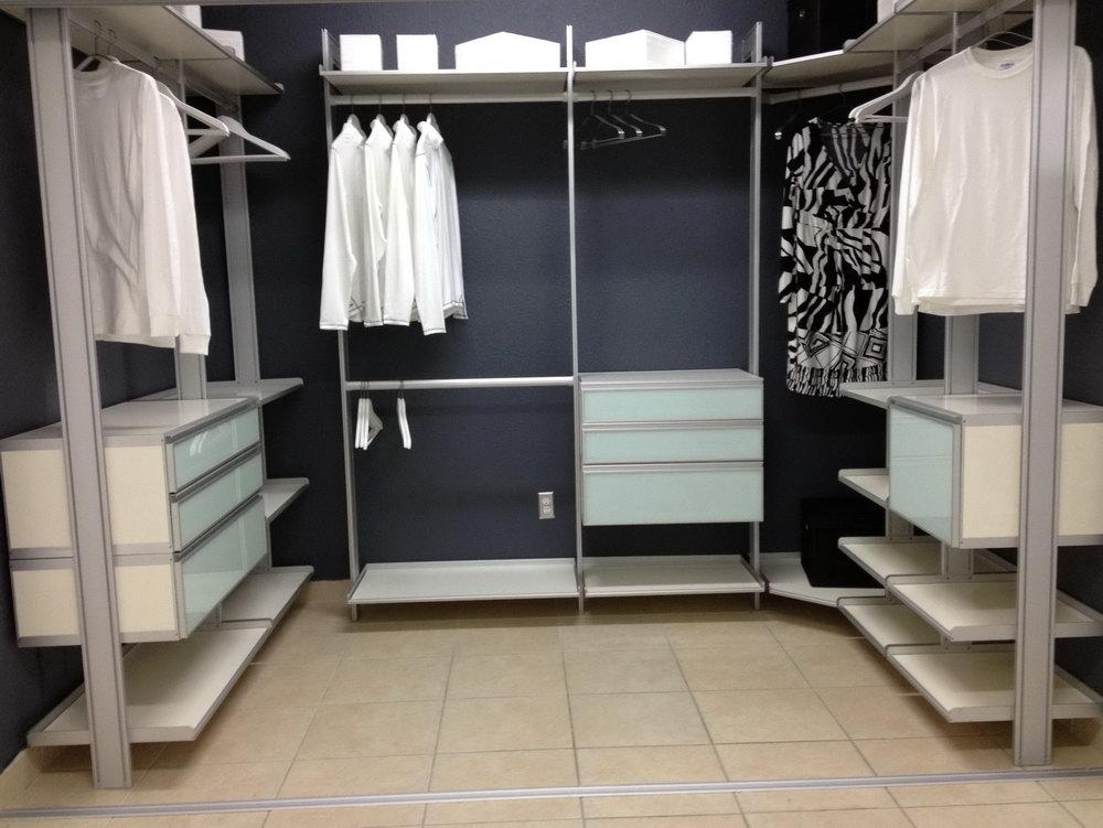 Modular Closet Systems With Doors