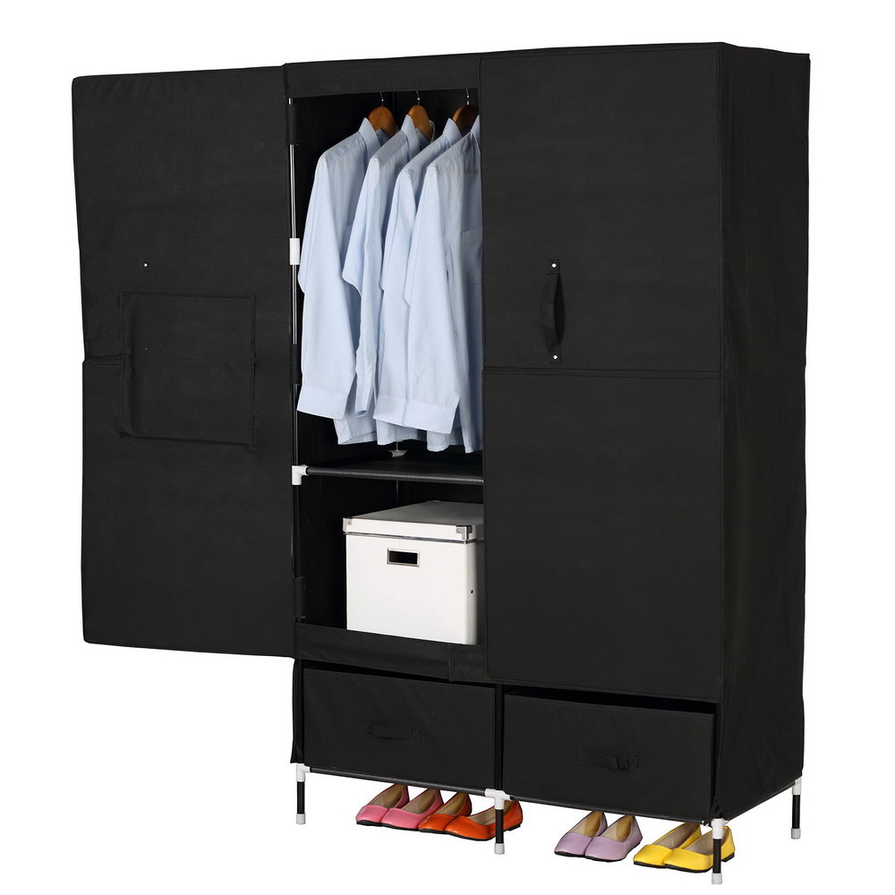 Portable Clothes Closet Wardrobe By Cosyhome