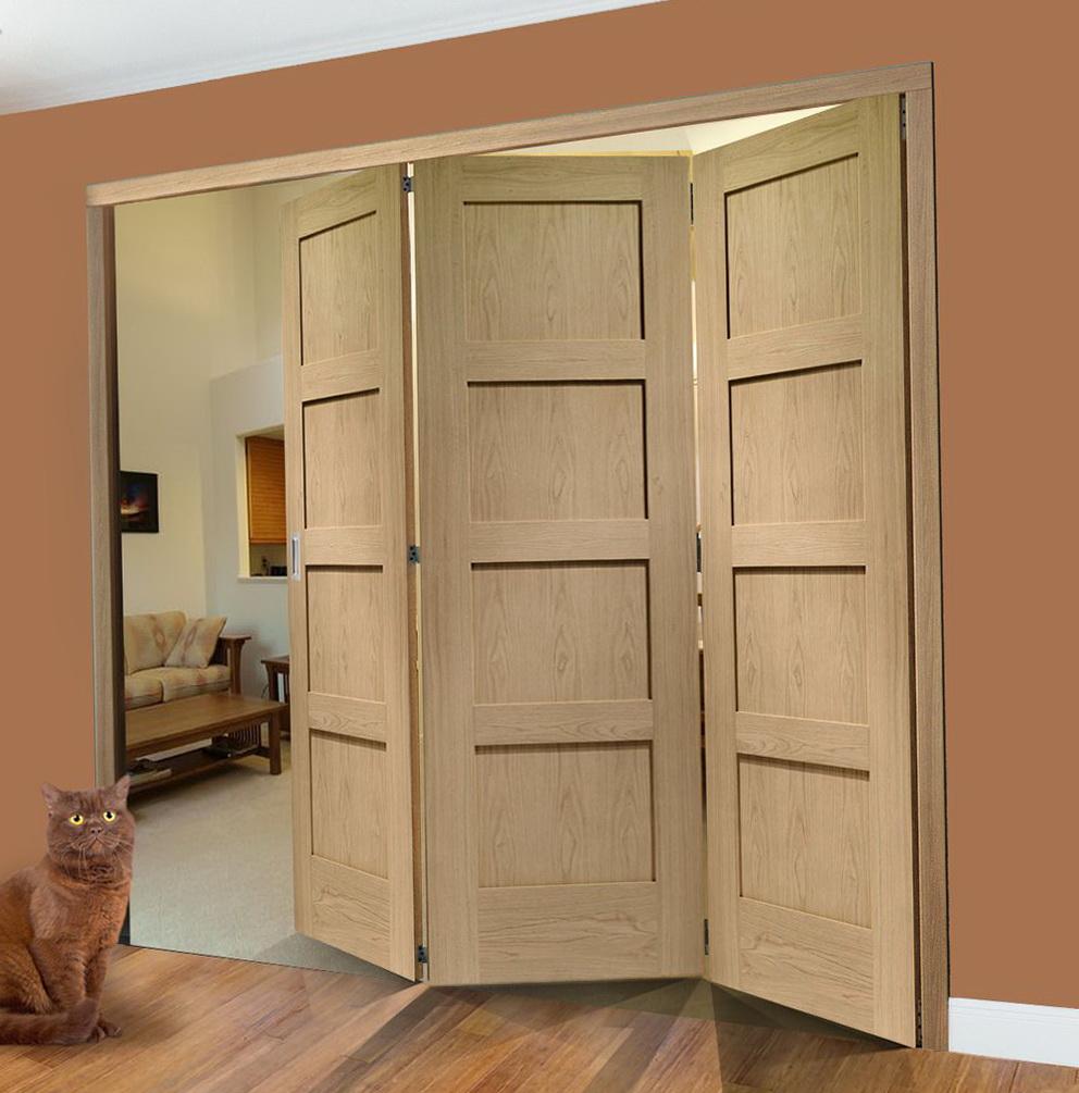 Shaker Style Bifold Closet Doors