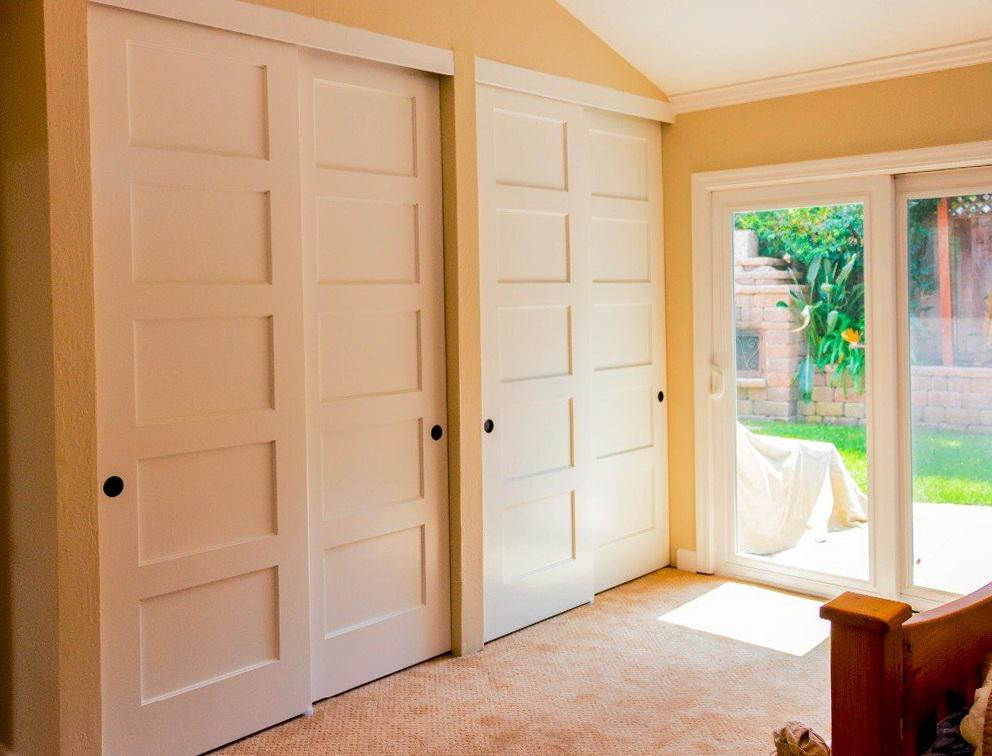 Shaker Style Sliding Closet Doors