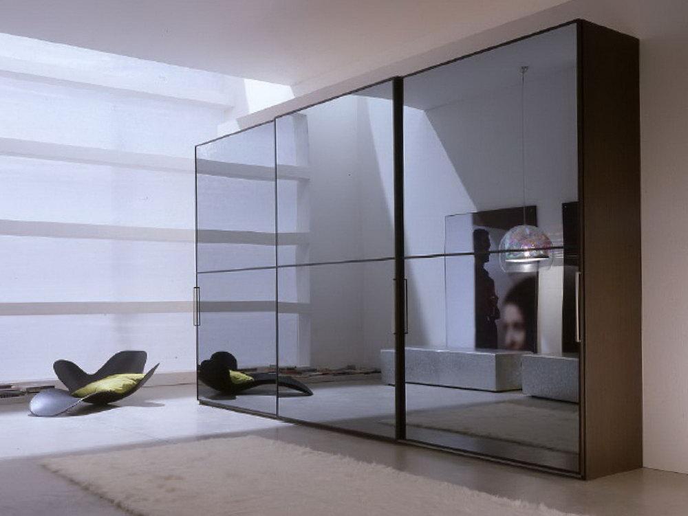 Sliding Glass Mirrored Closet Doors