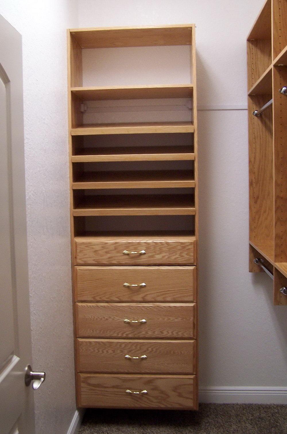 Solid Wood Closet Shelves