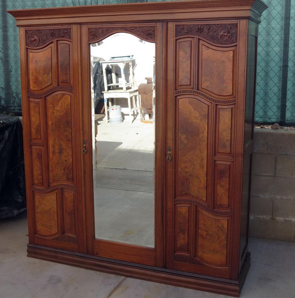 Antique Wardrobe Closet For Sale