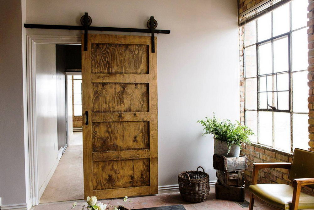 Barn Wood Sliding Closet Doors