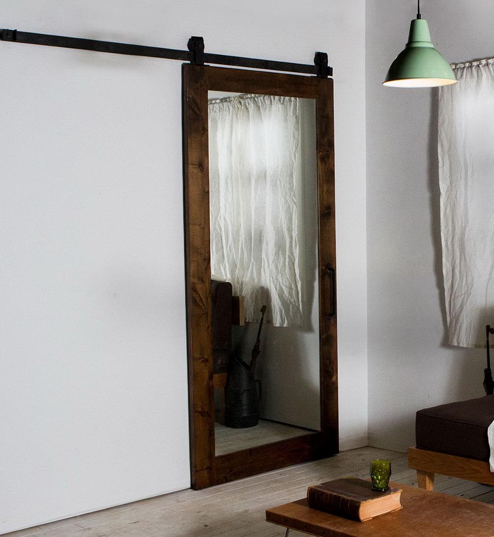 Closet Barn Door With Mirror