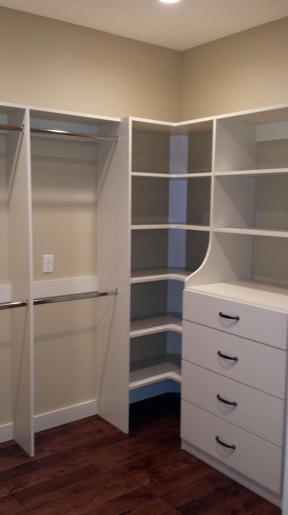 Closet Corner Shelf Unit