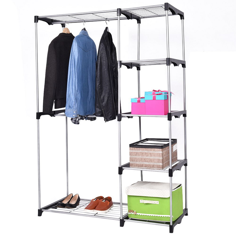 Closet Rod Height For Double Hanging