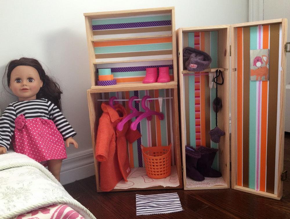 Doll Clothes Closet Diy