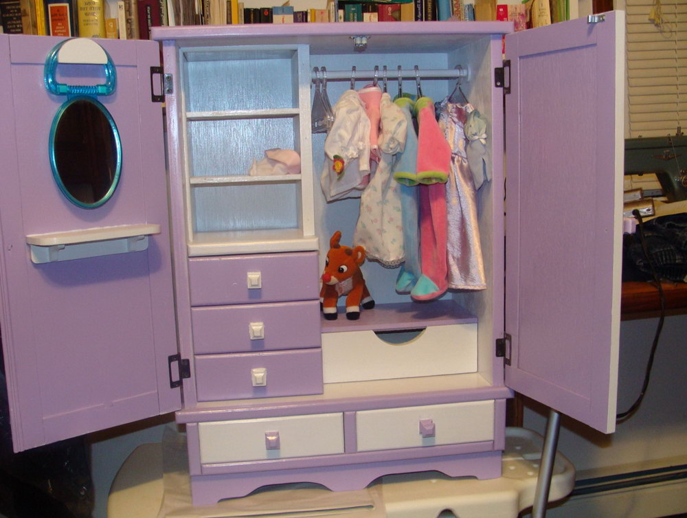Doll Clothes Closet Ideas