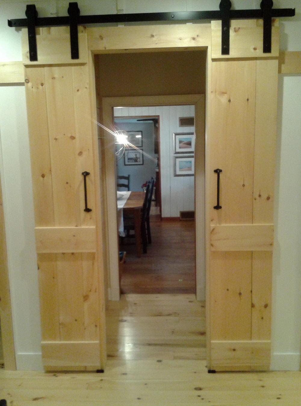 Double Barn Door For Closet