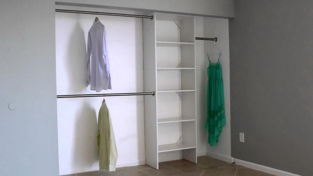 Double Rod Closet Dimensions