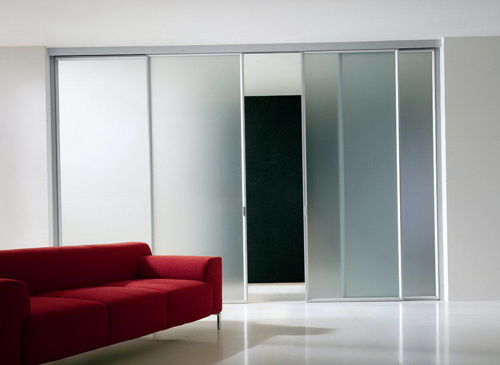 Frosted Sliding Closet Doors