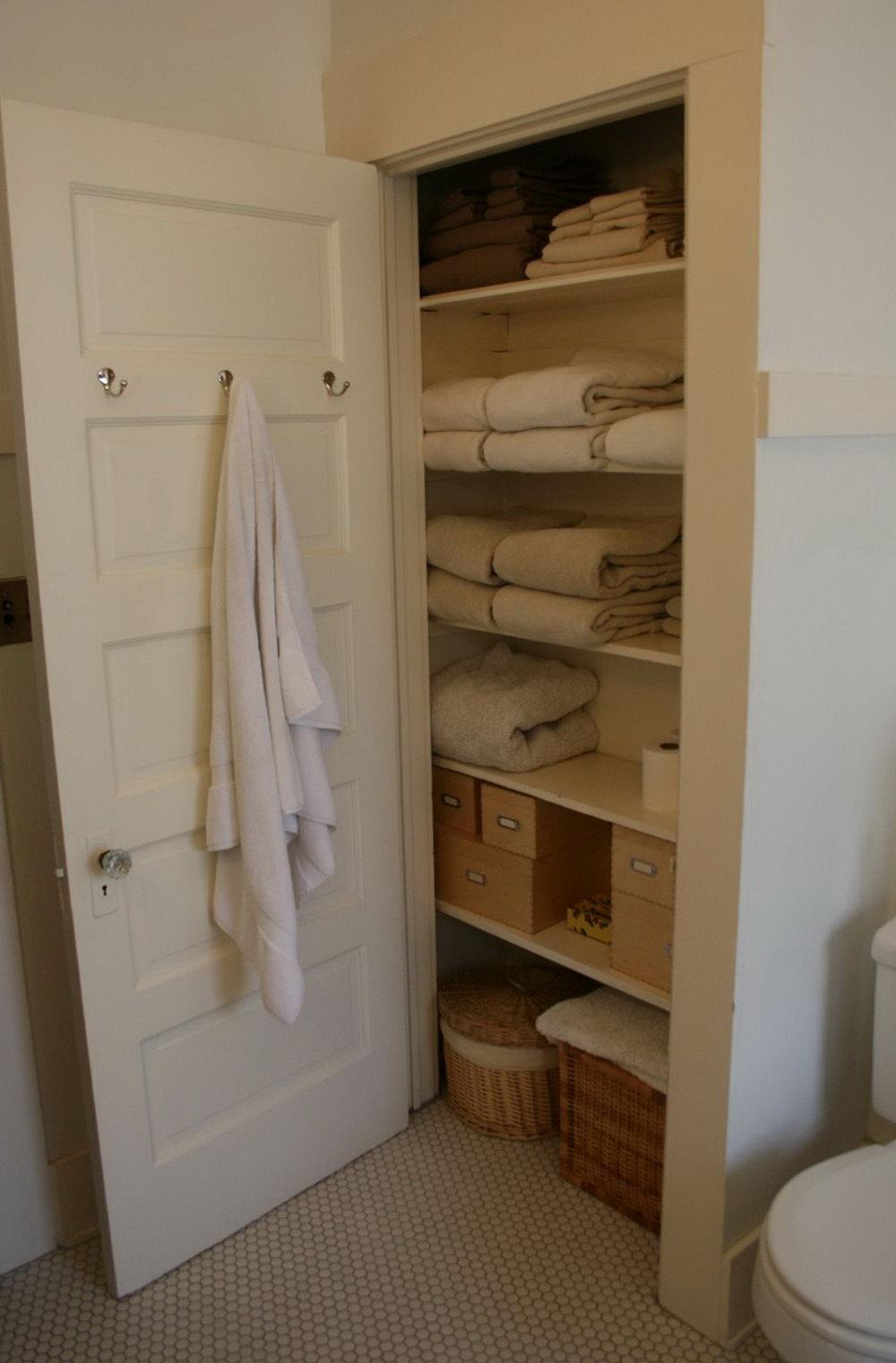 Linen Closet Storage Boxes