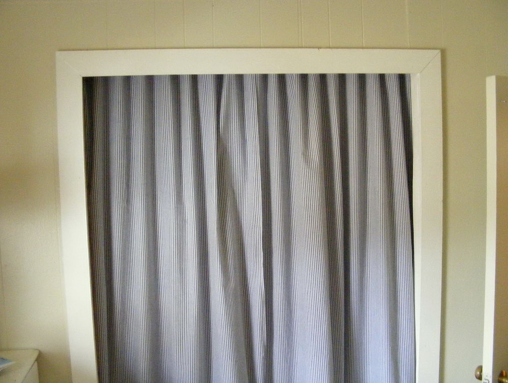 Make A Closet With Curtains