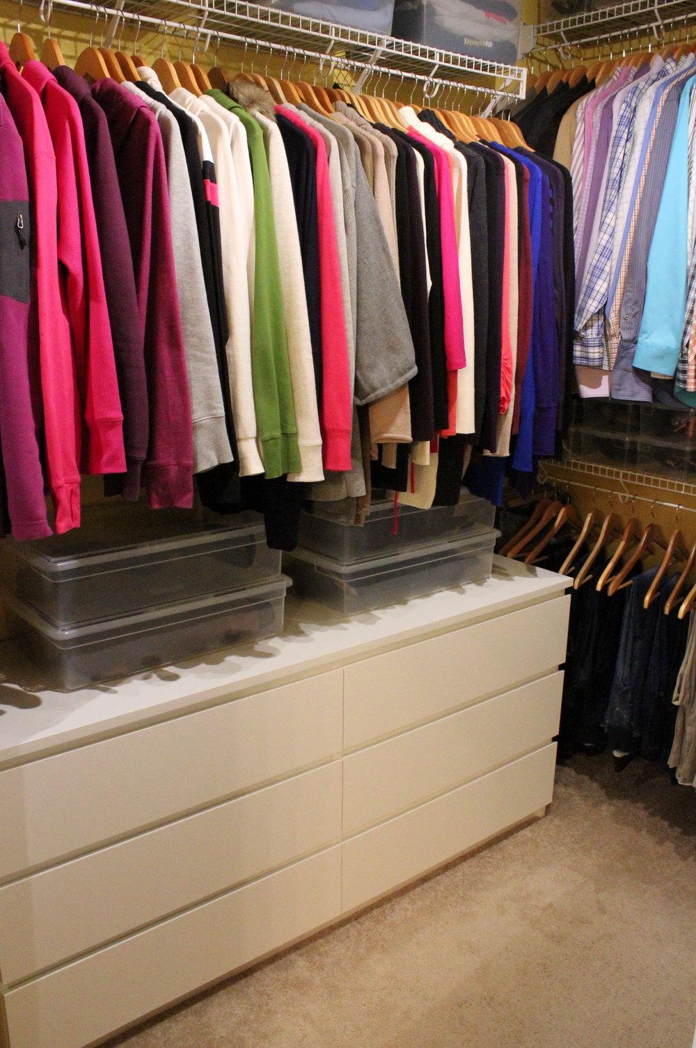Malm Dresser In Closet