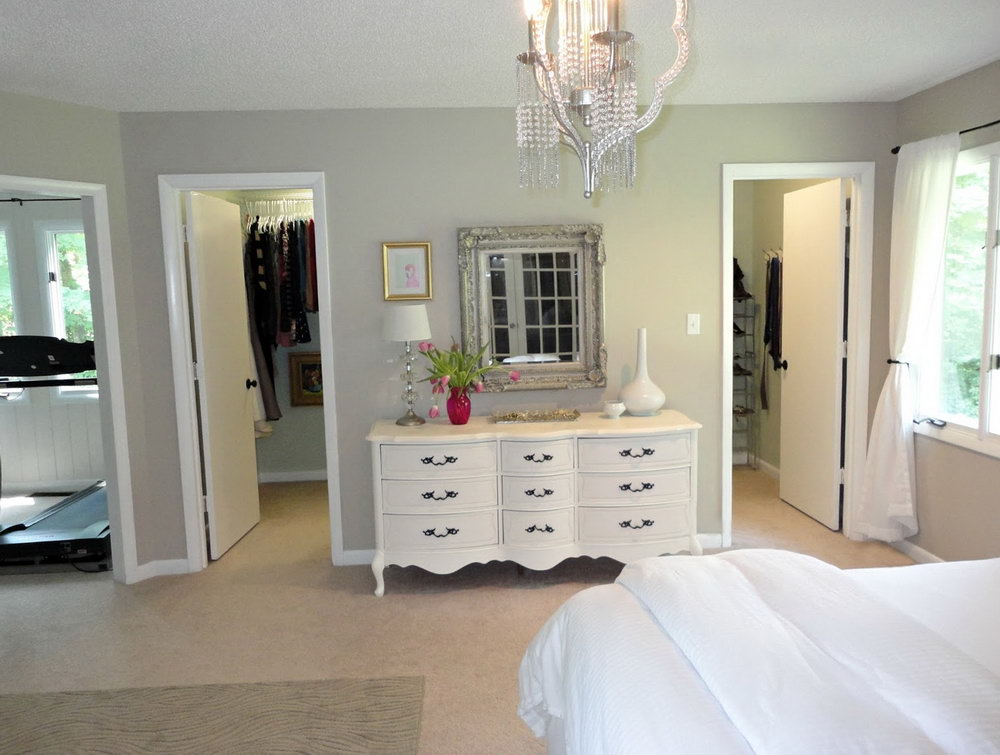 Master Bedroom With Two Closets