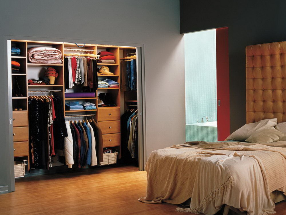 Modern Reach In Closet Design