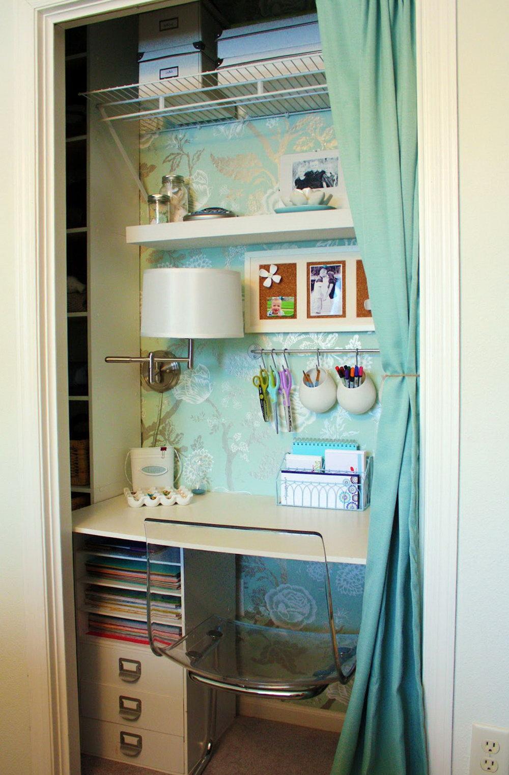 Office In A Closet Ideas