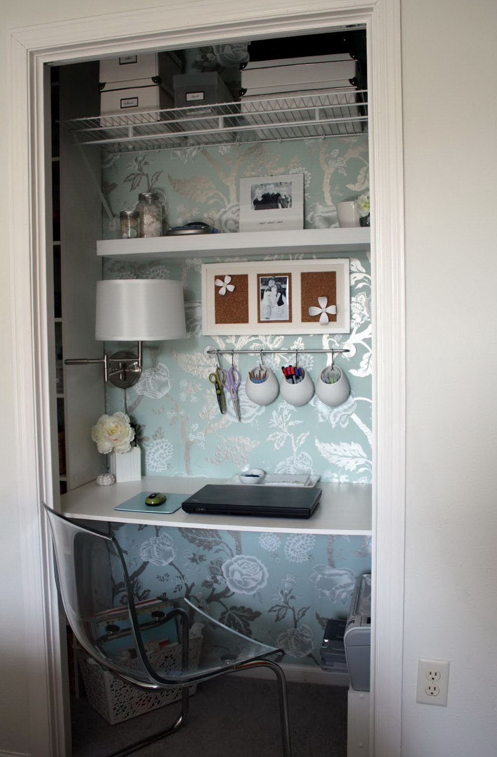 Office In A Closet Ikea