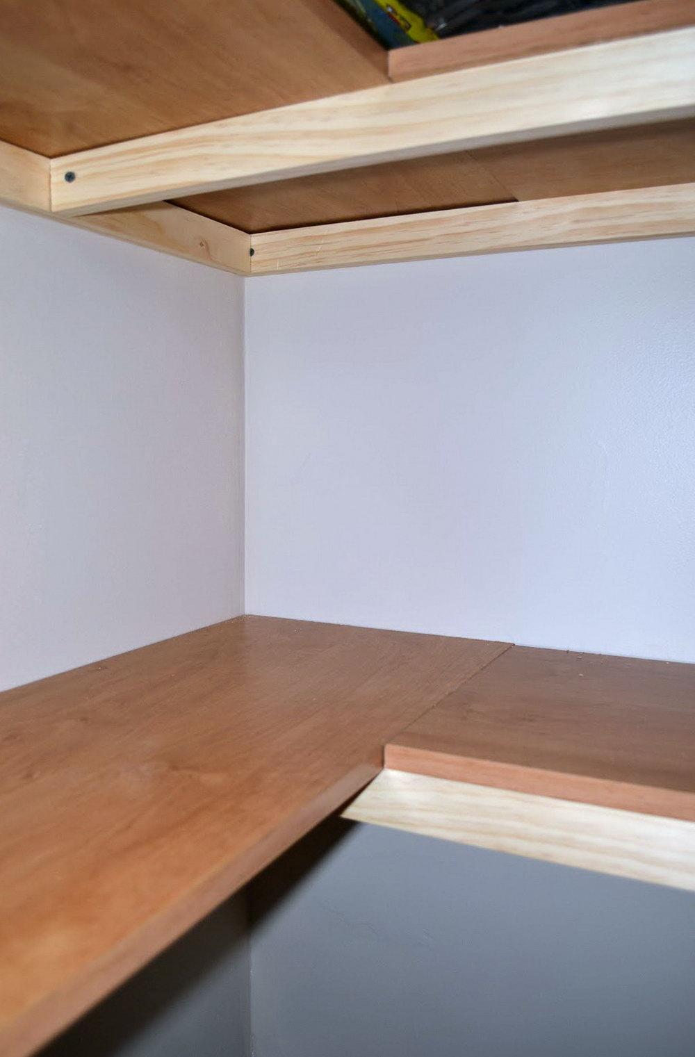 Reclaimed Wood Closet Shelves