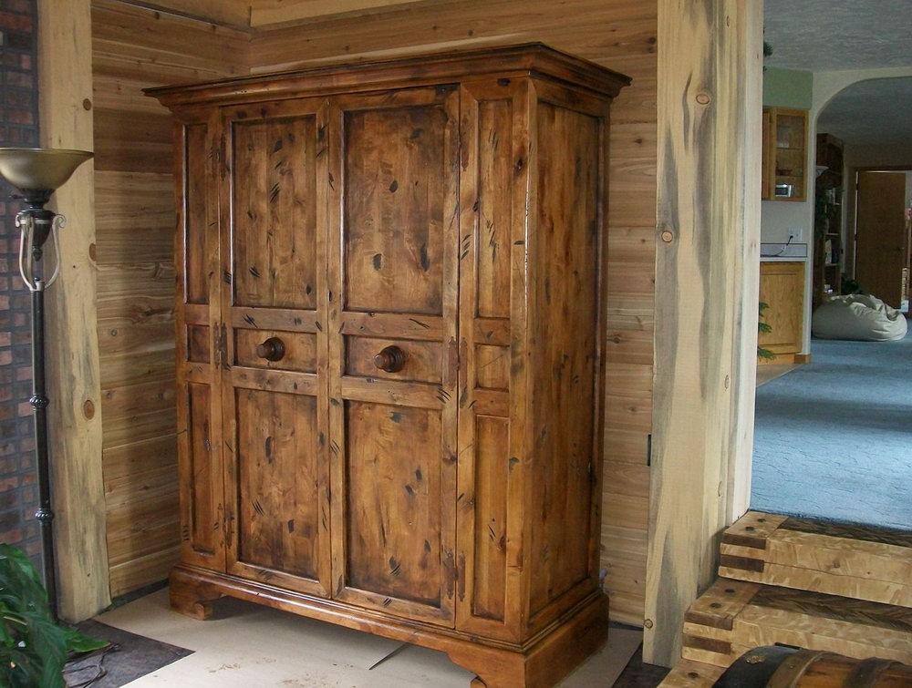 Rustic Wood Closet Doors