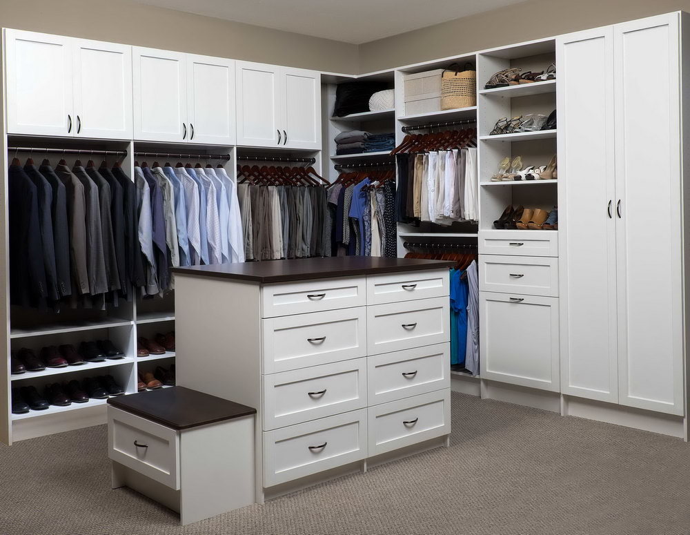 Walk In Closet Center Island