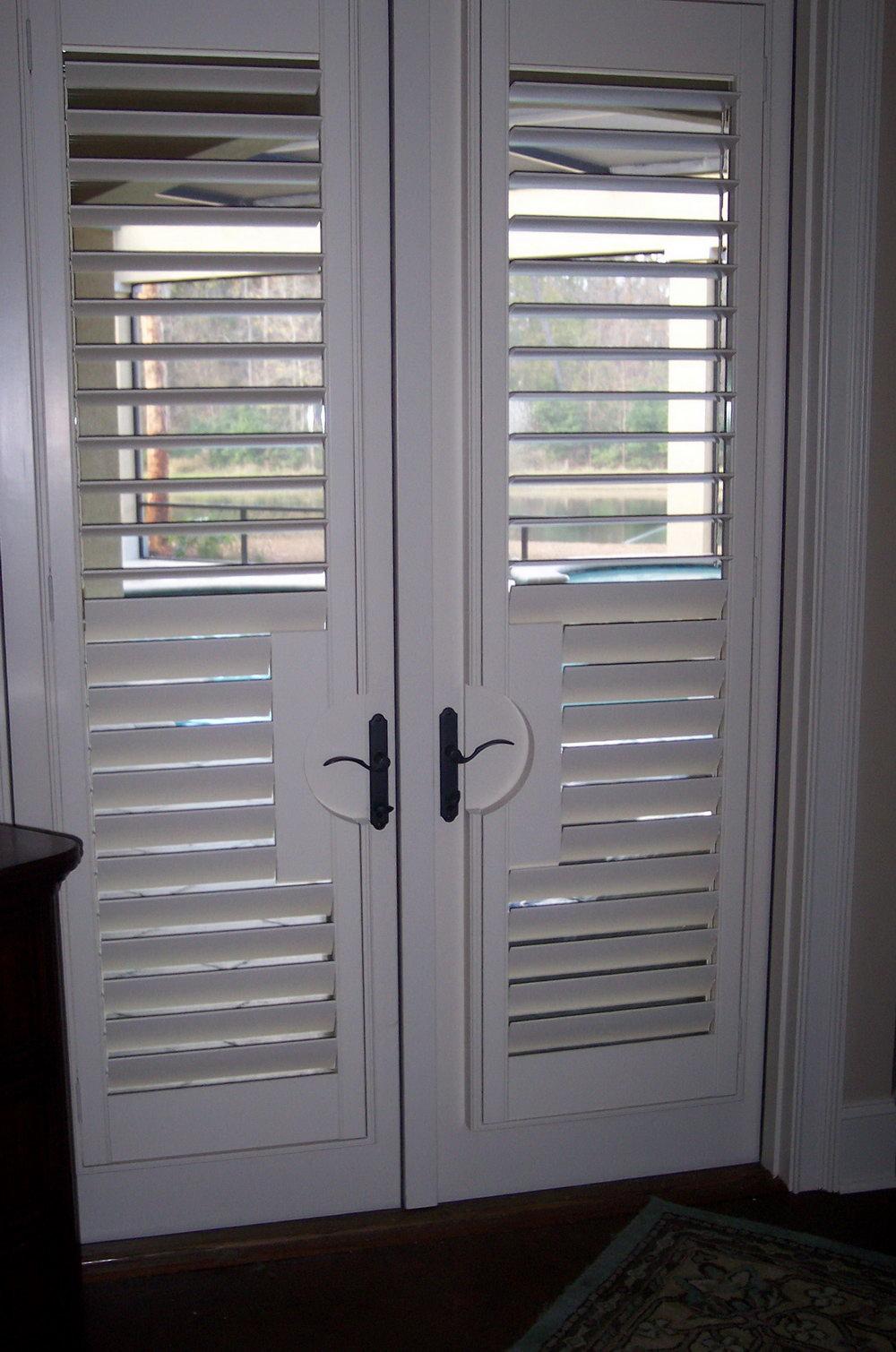 White Shutter Closet Doors