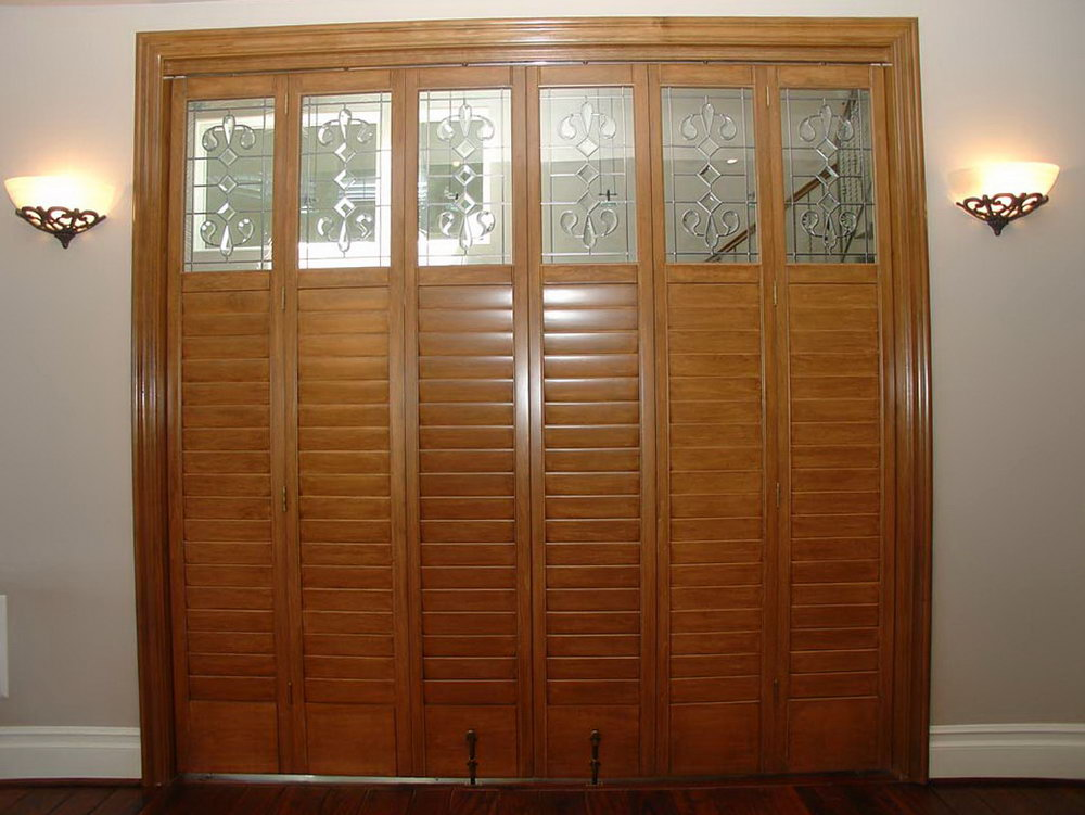 Wood Shutter Closet Doors