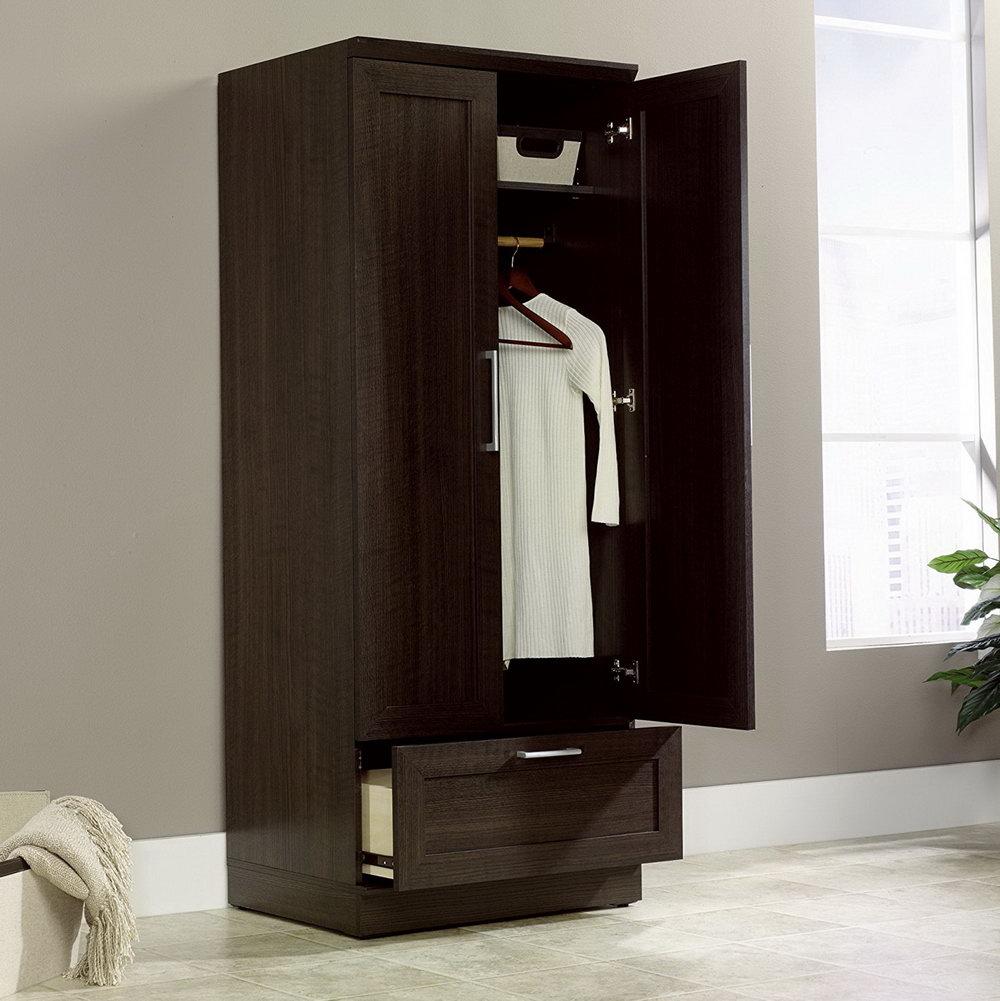 Wood Wardrobe Closet Home Depot