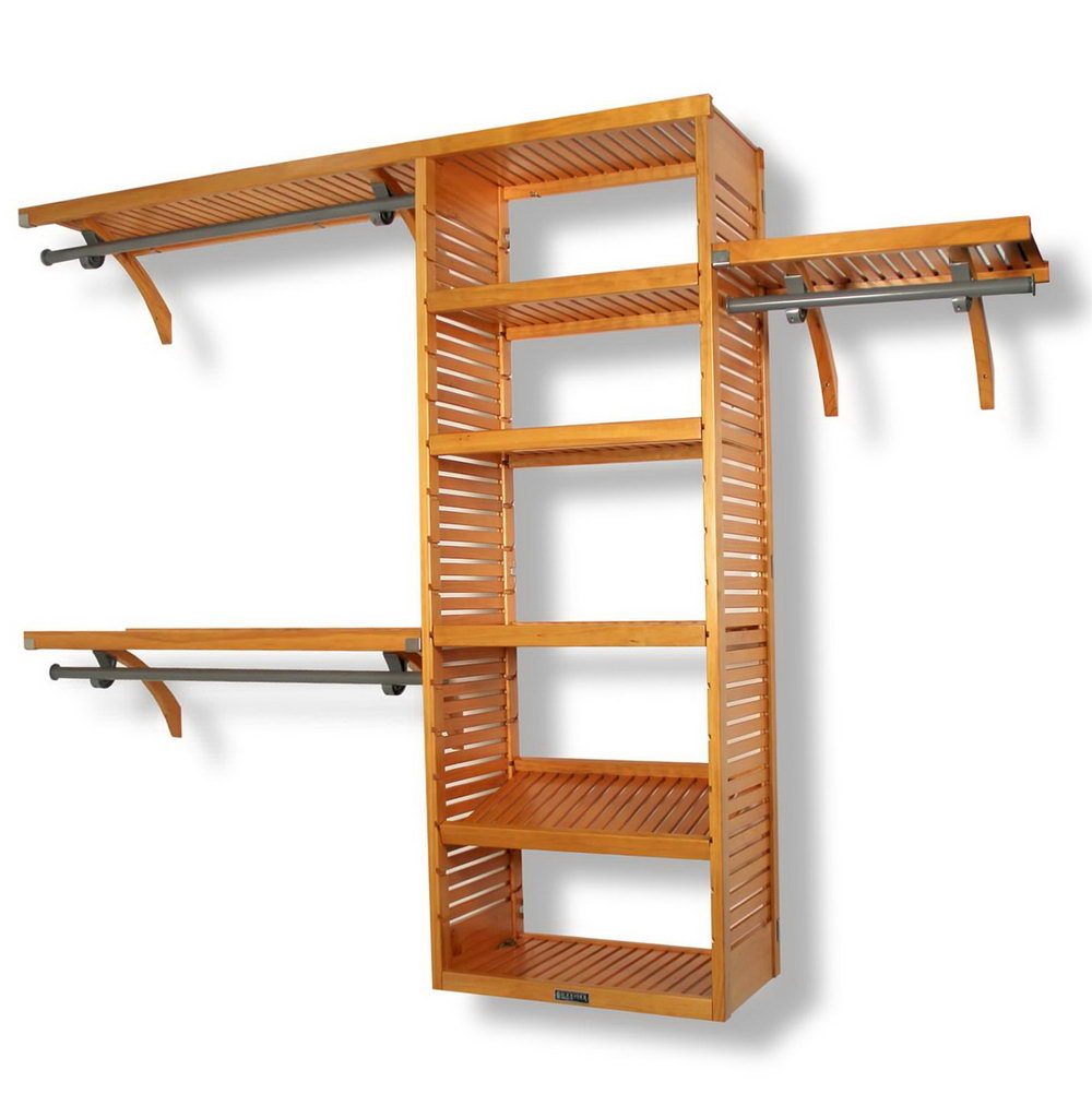 Wooden Closet Rod Support Brackets
