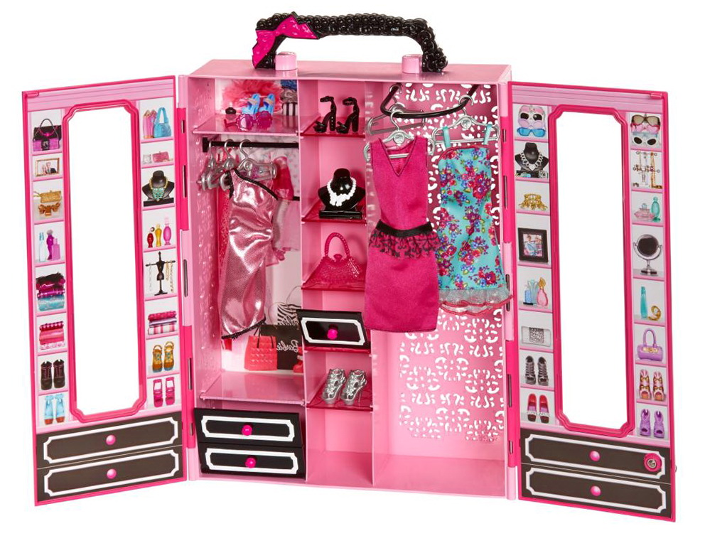 Barbie Clothes Storage Closet