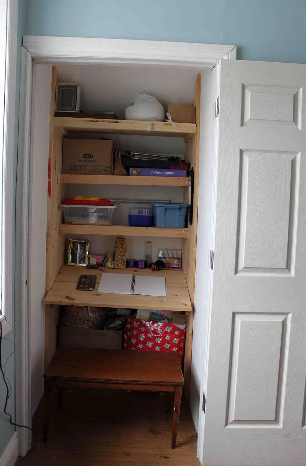 Closet Built In Desk