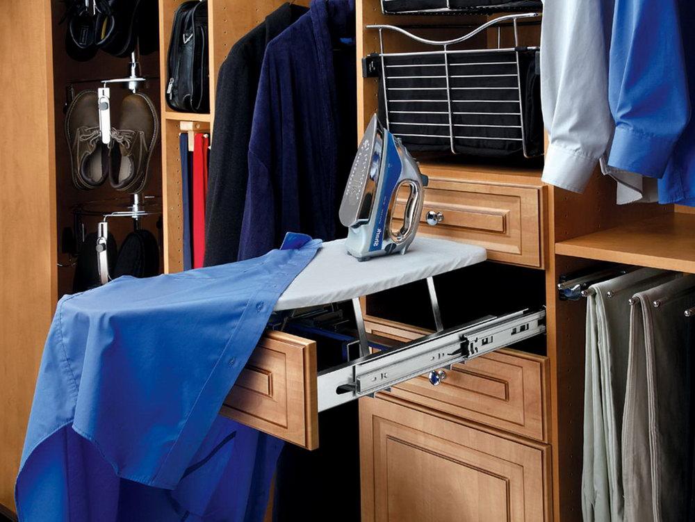 Closet Ironing Board System