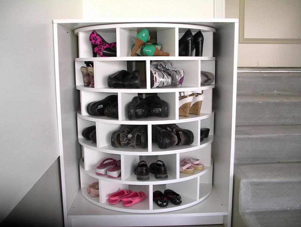 Closet Lazy Susan Shoe Rack