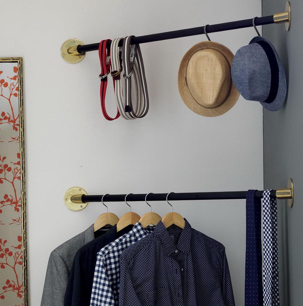 Closet Shelf Hanger Bar